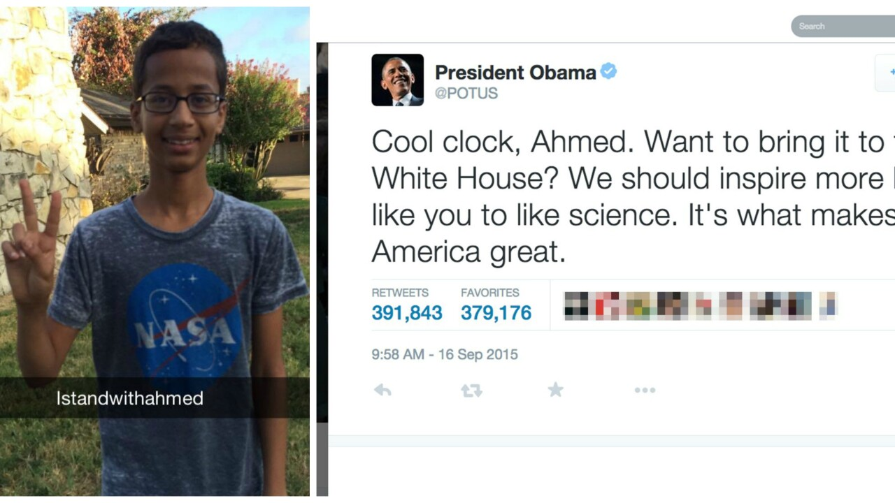 Clock-making teen Ahmed Mohamed to visit White House