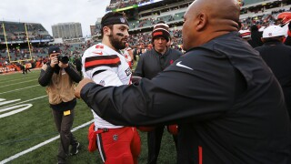Baker Mayfield says he doesn't regret calling former Browns coach Hue Jackson 'fake'