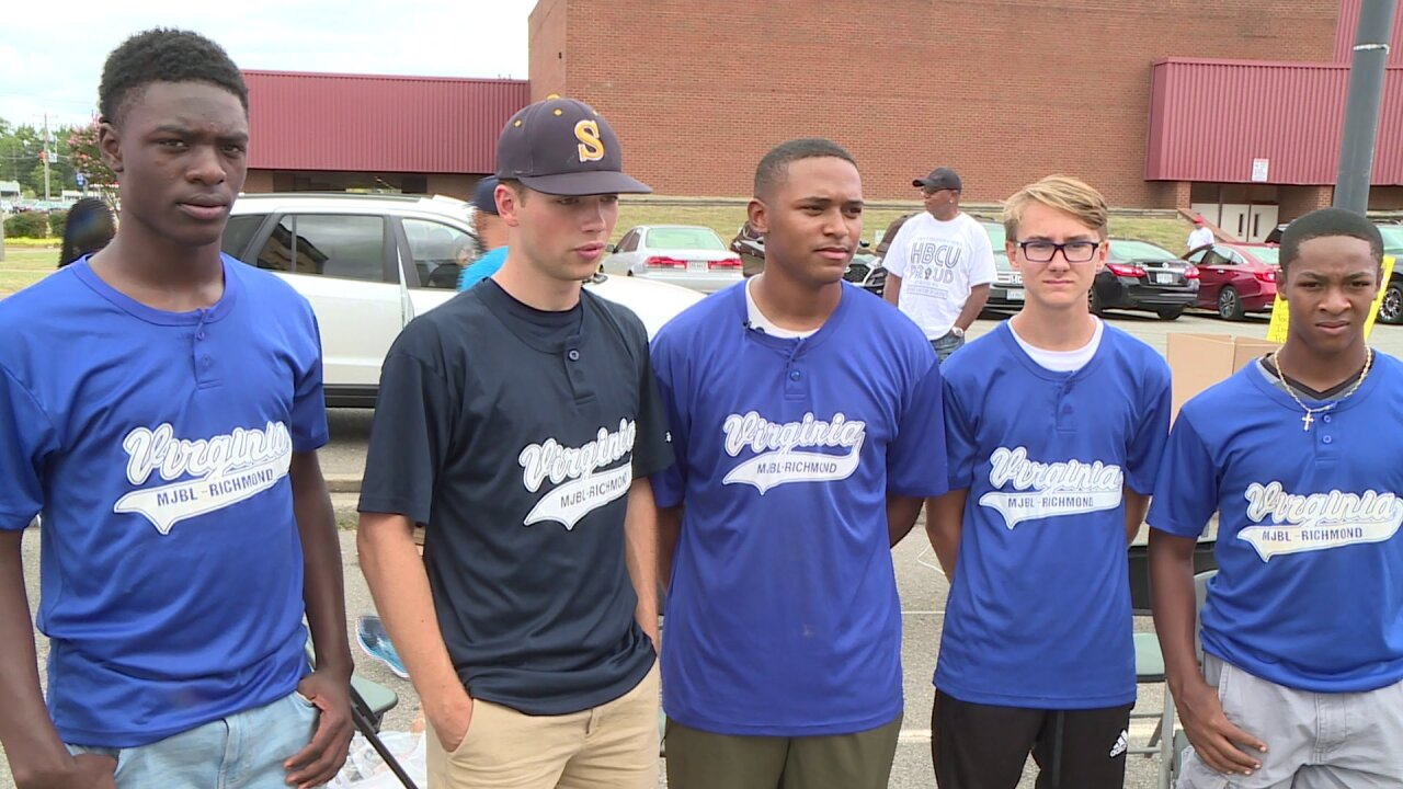 Richmond youth baseball team collects items for Dorian victims in the Bahamas