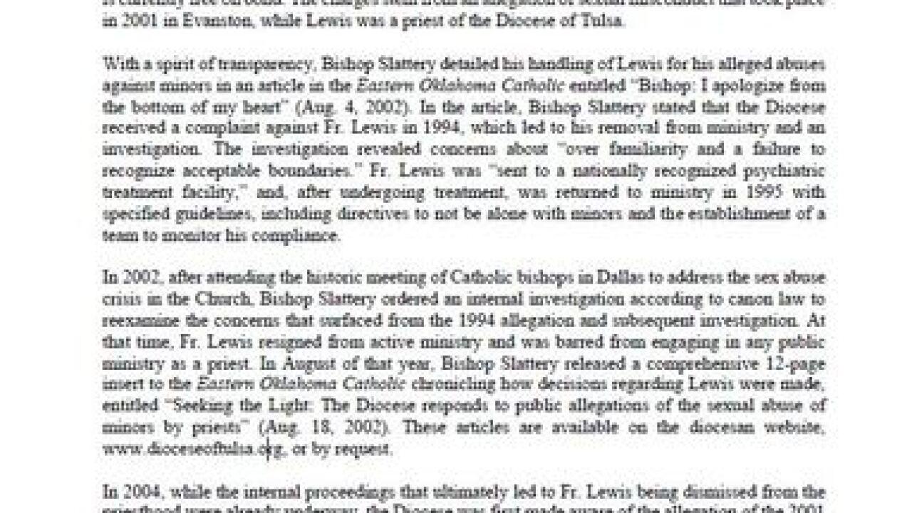 Former Tulsa priest arrested