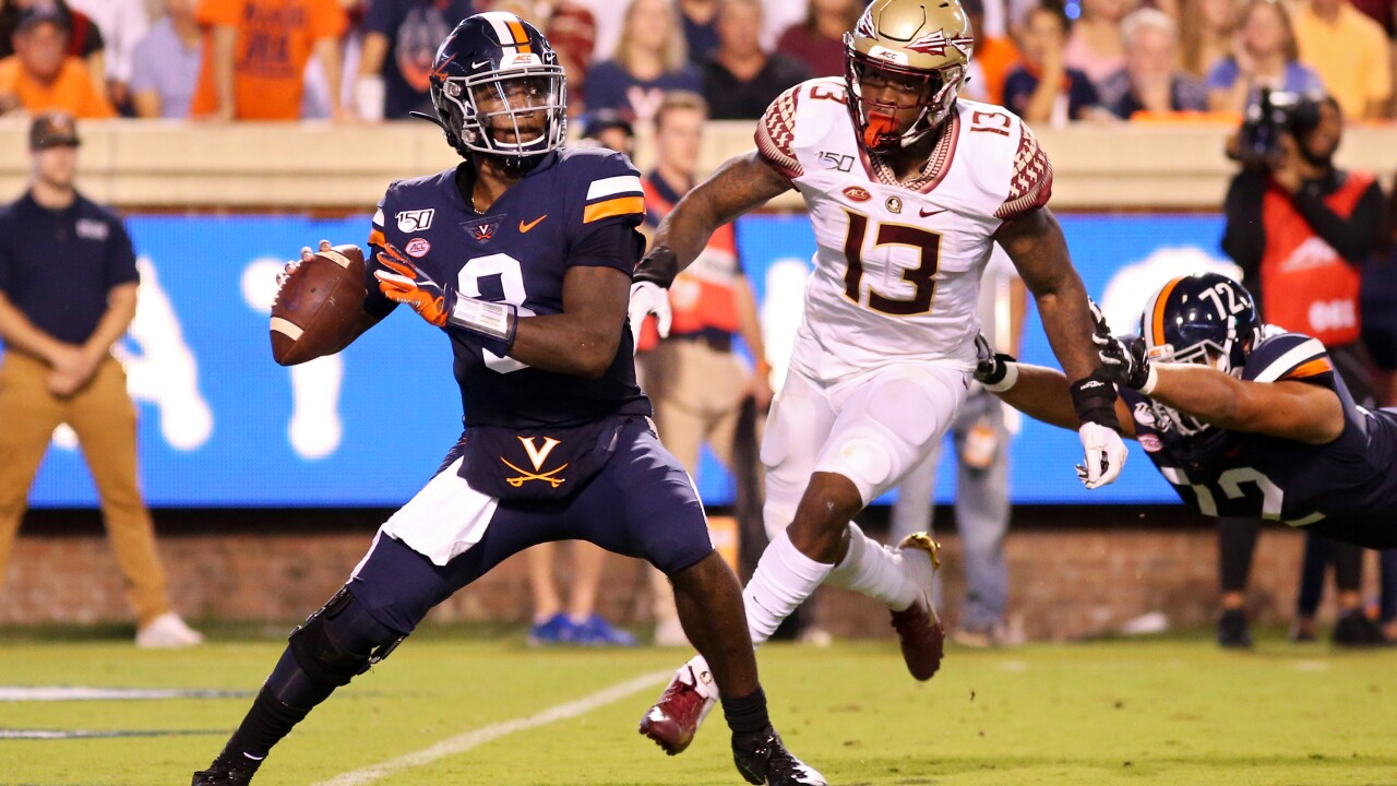Virginia QB Bryce Perkins earns first ACC weekly honor of his career