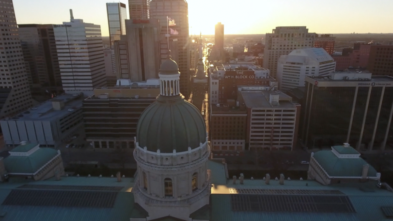 Drone shot of Statehouse
