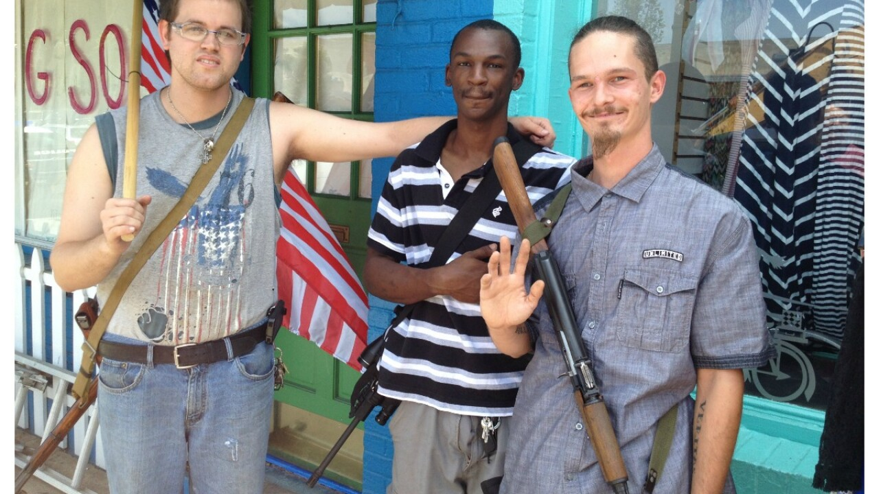 Open Cary: Group armed with long guns stroll weekly throughCarytown