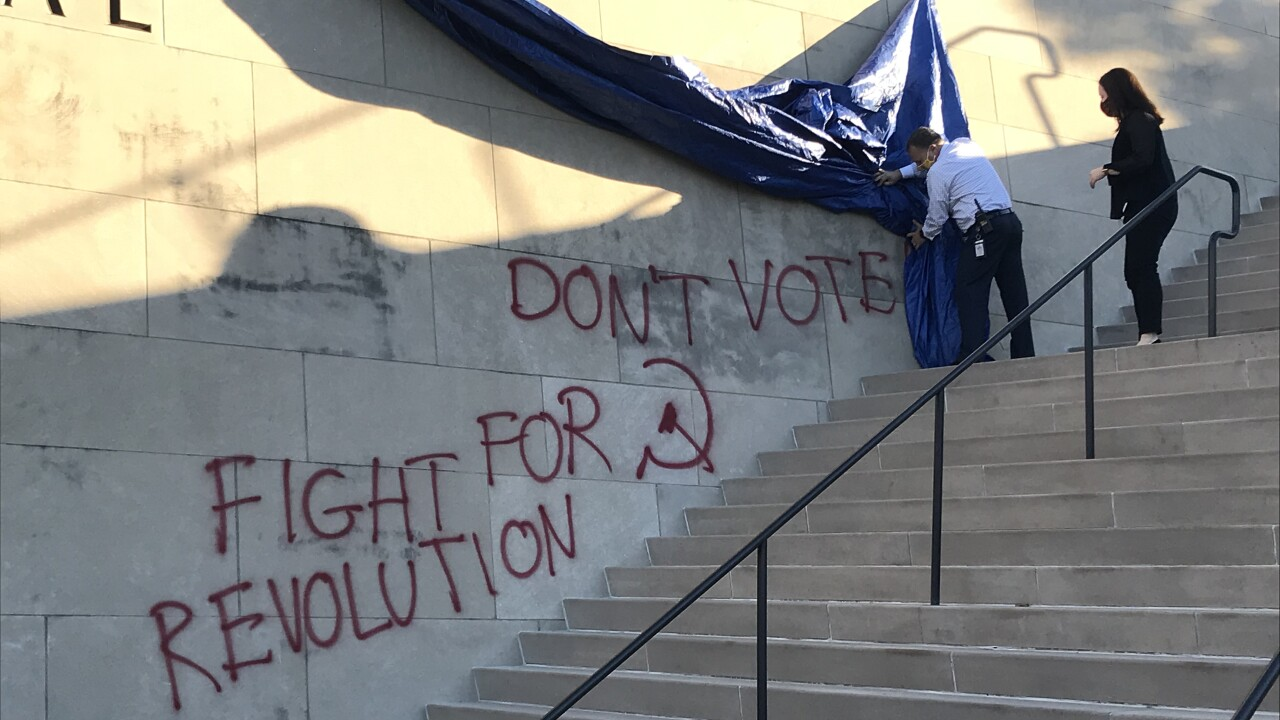 wwi vandalism election day