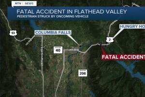 Pedestrian killed in accident near Hungry Horse