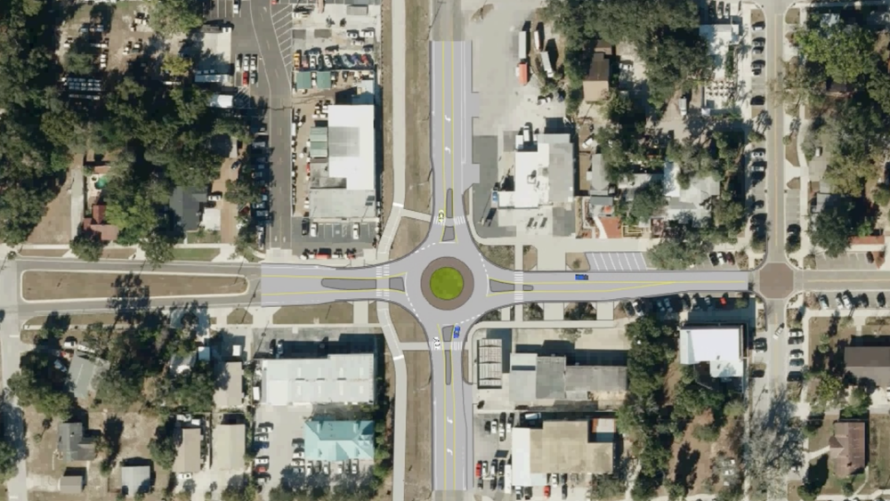 Alt 19 and Florida Roundabout Rendering