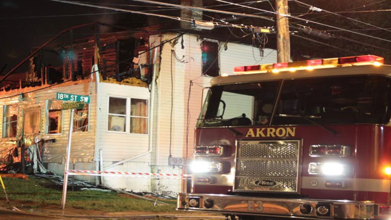 Empty gas can found inside burning Akron home