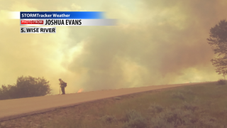 Wildfire South of Wise River