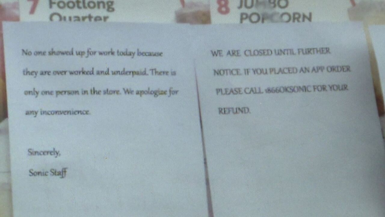 'No one showed up for work today.' Restaurants struggling to stay open amid hiring shortage