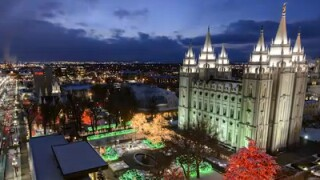 Video: Time-lapse of Temple Square lights
