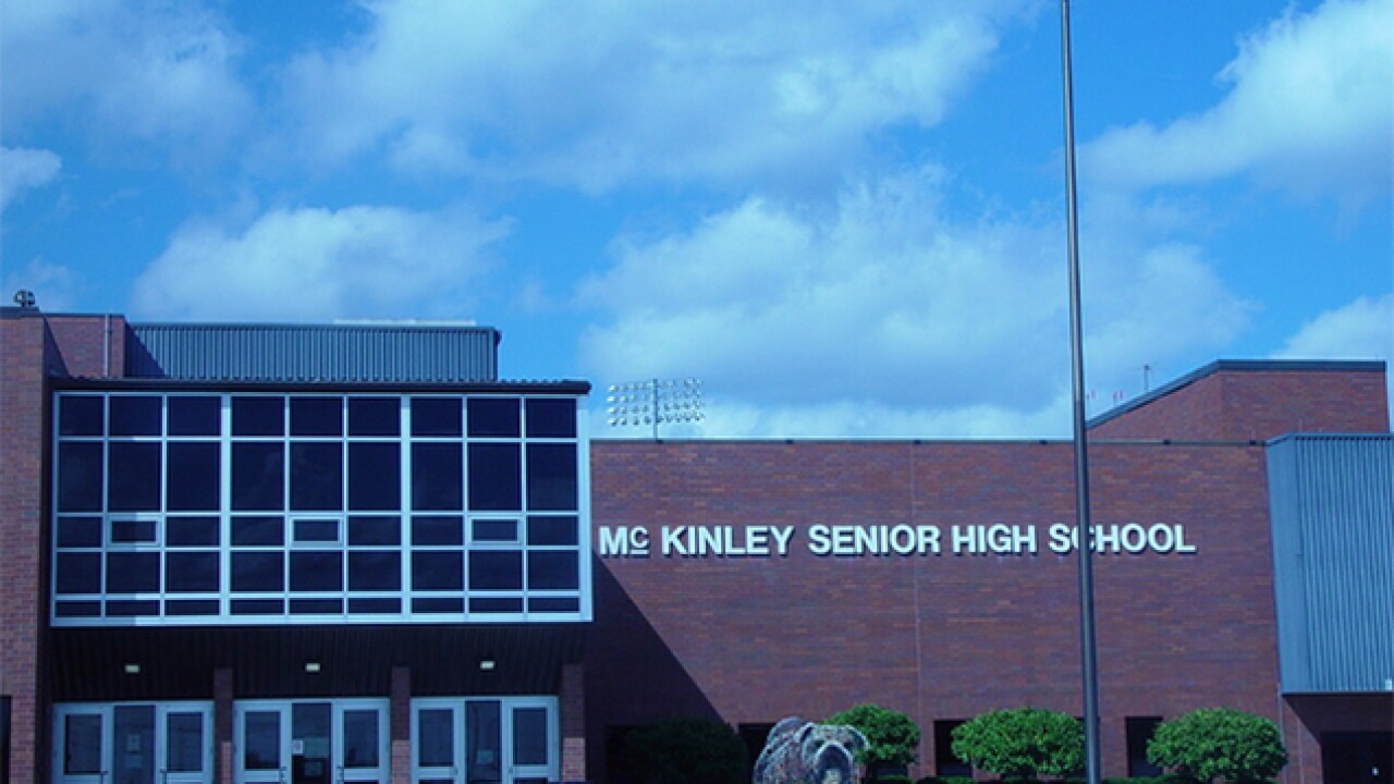 Fight breaks out on the first day of school at McKinley High School in Canton