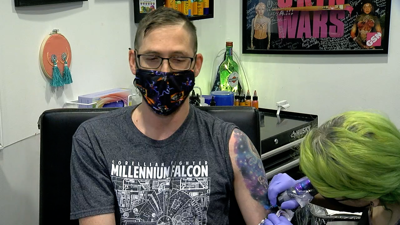 Blake Webb, St. Elizabeth's Tattoo arm