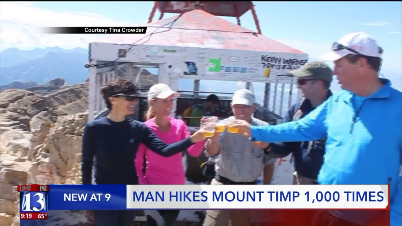 Just before his 77th birthday, Orem man summits Mount Timpanogos for the 1,000thtime