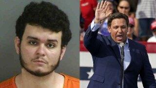 Florida man accused of altering Gov. Ron DeSantis' voting address