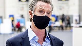 Gov. Gavin Newsom mask