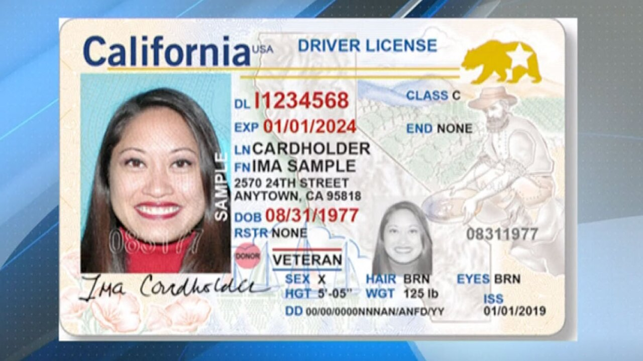 For License California Options Driver's 3 A Gender Available