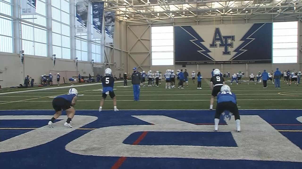 Air Force football kicks off springs practice
