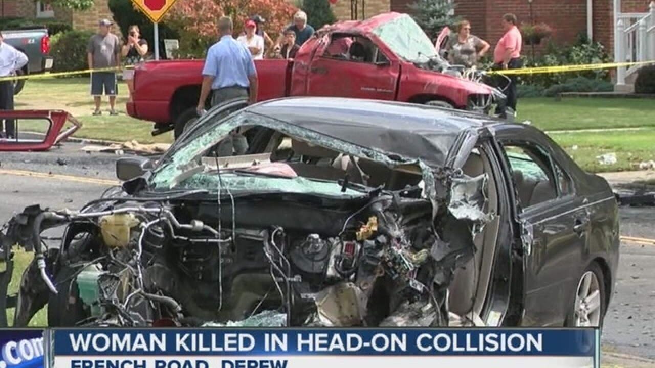 Woman, 72, dies in head-on crash in Depew