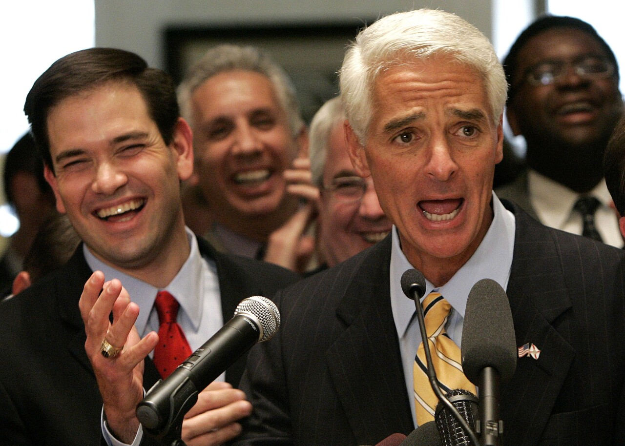 Gov. Charlie Crist and Marco Rubio in 2007