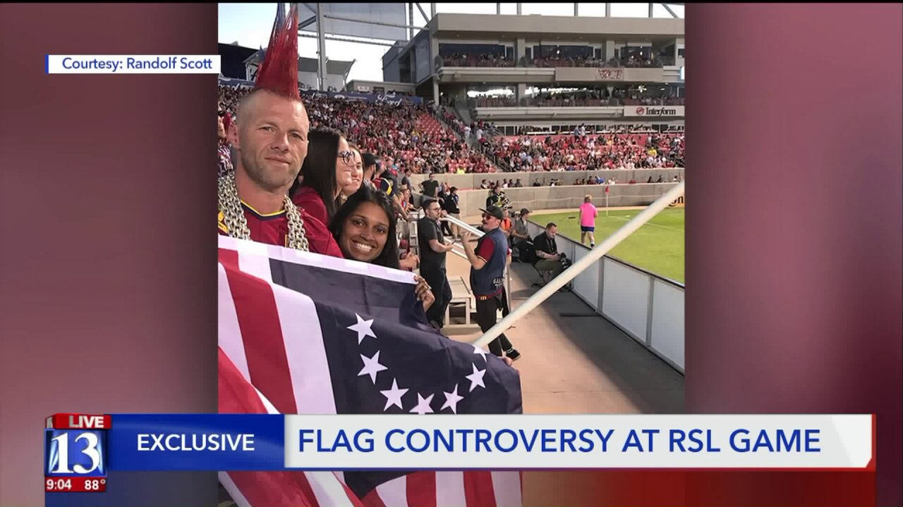 Controversy erupts over Betsy Ross flag at RSL soccer game