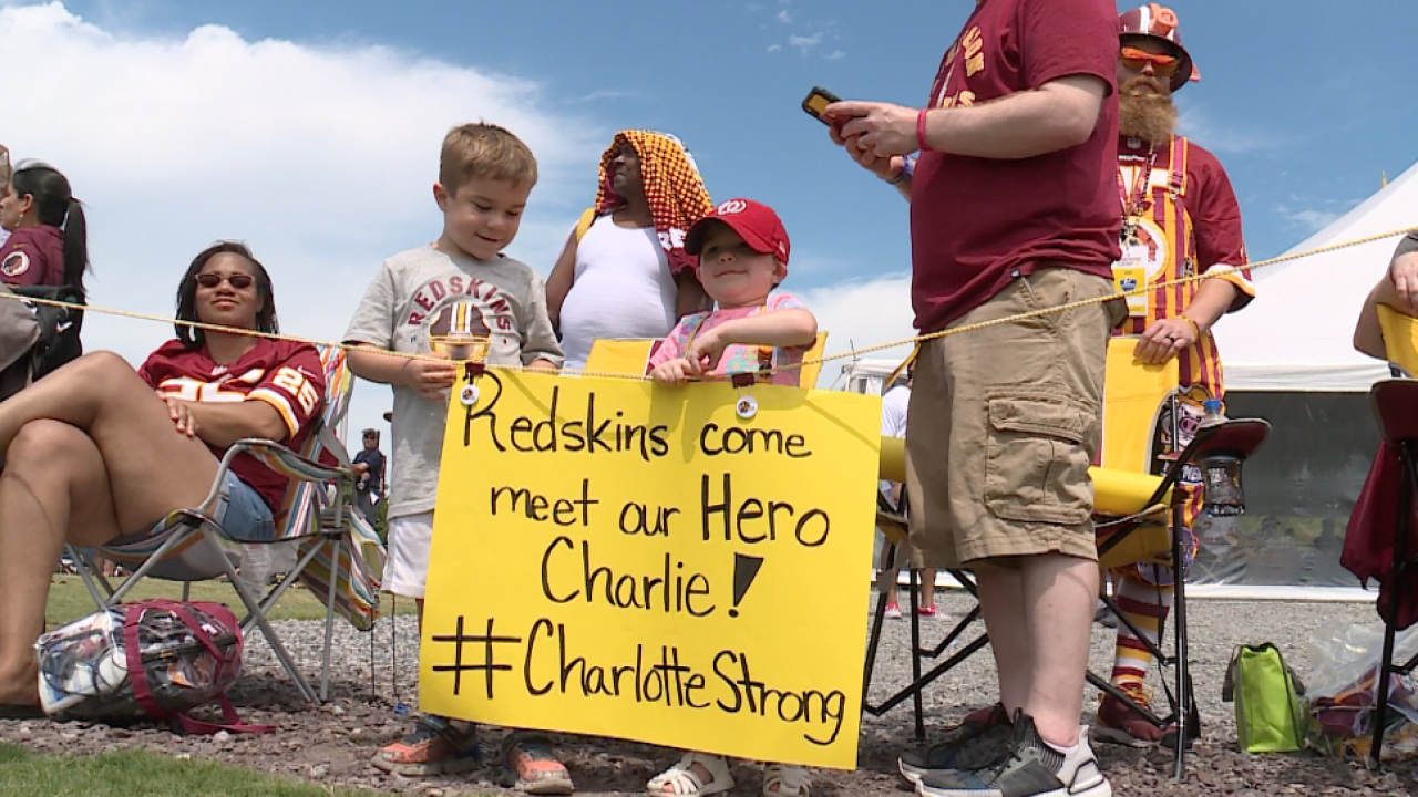 #CharlotteStrong: 3-year-old Redskins fan battlesleukemia