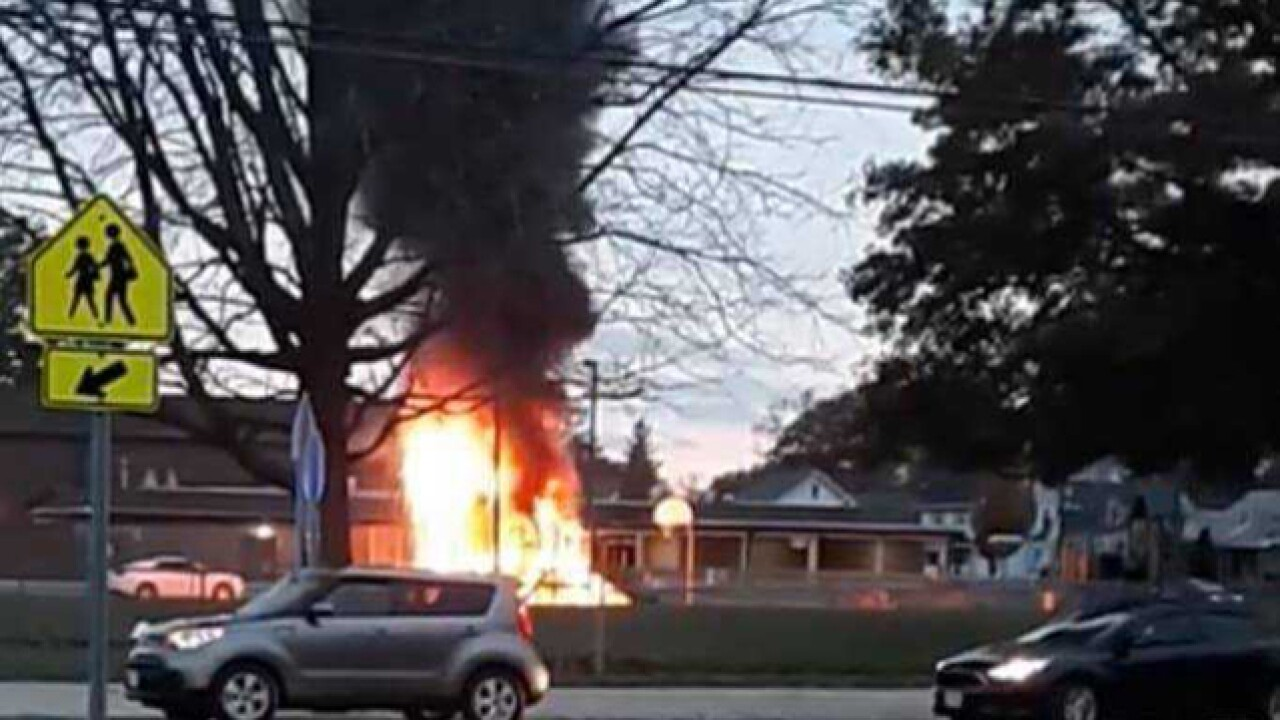 Lorain elementary school playground total loss after fire