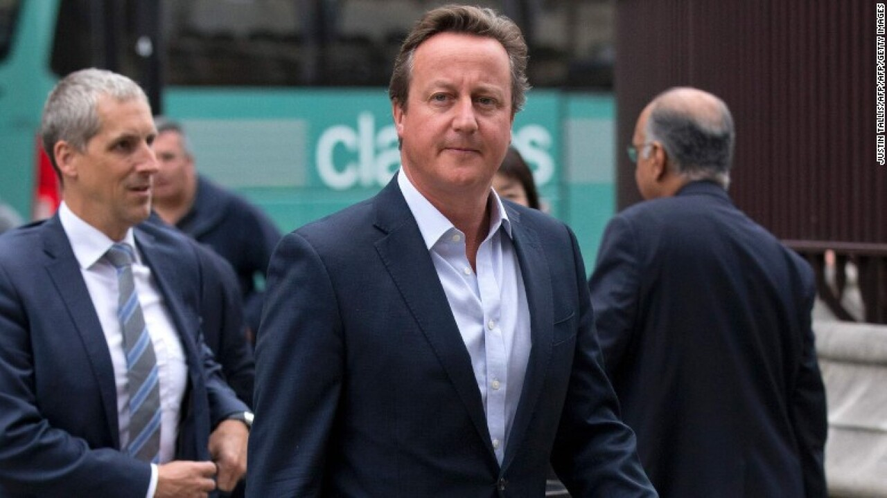 David Cameron resigns from UK Parliament