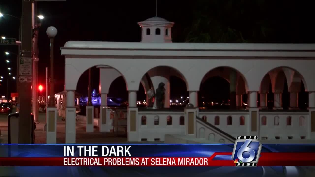 Selena memorial lights soundsystem broken 0916.jpg