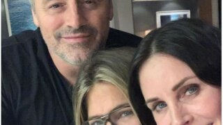 Courteney Cox, Jennifer Aniston and Matt LeBlanc
