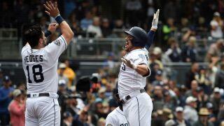 hunter renfroe austin hedges New York Mets v San Diego Padres