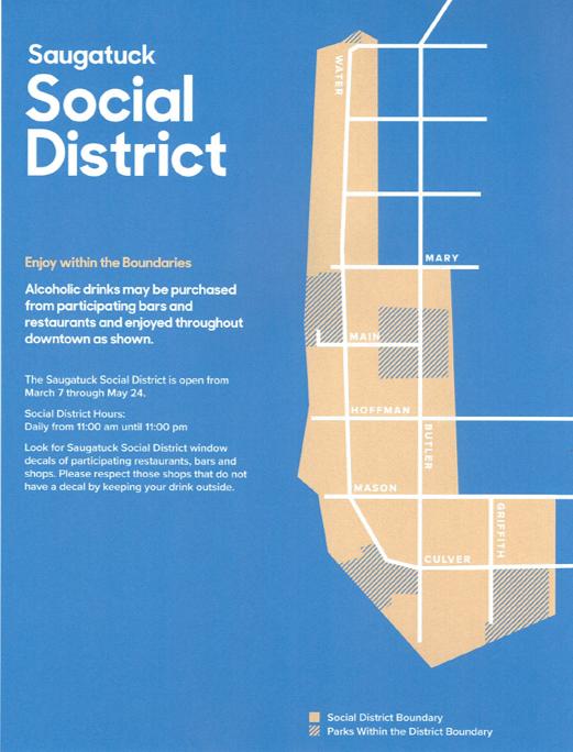 Saugatuck Social District Map