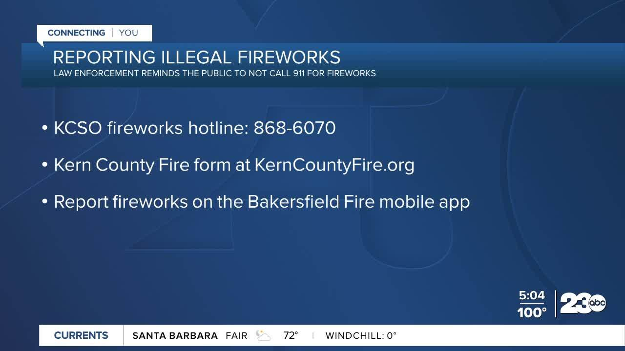 Reporting Illegal Fireworks