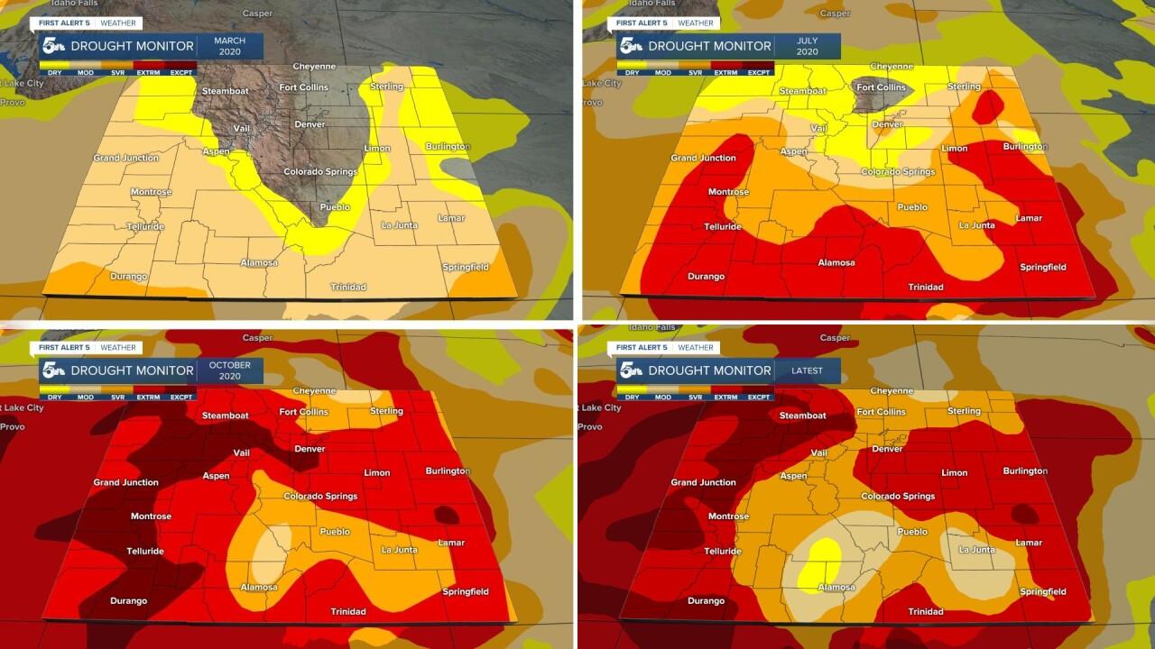 2020 and 2021 Drought Monitors