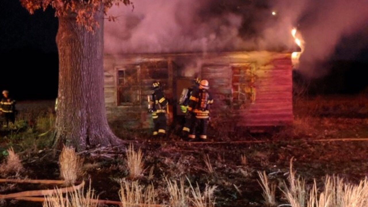 Man arrested, charged with arson in Suffolk farmhouse fire