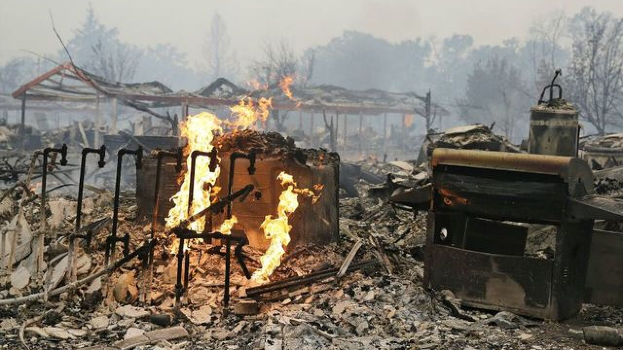 NoCal wildfire: At least 100 homes destroyed