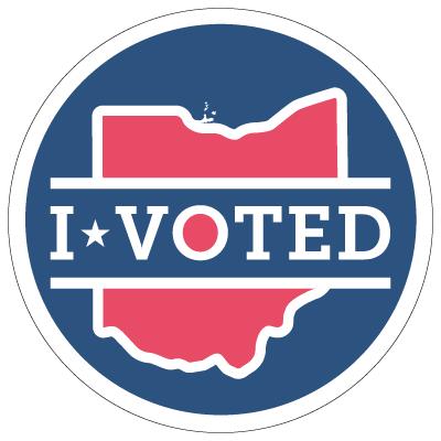 "One new ""I Voted"" sticker design"
