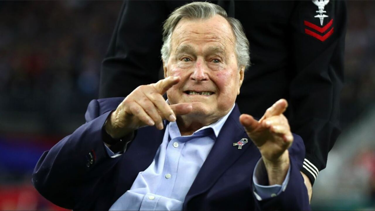 George H.W. Bush to remain hospitalized, but 'in excellent spirits'