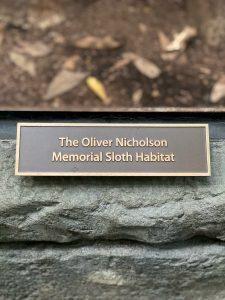 The Oliver Nicholson Memorial Sloth Habitat