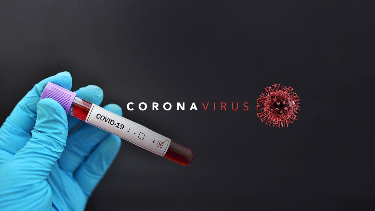 Coronavirus graphic with type