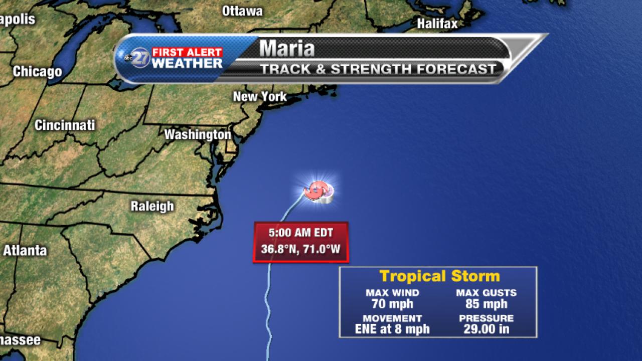 Tropical Storm Maria Advisory (5am 09/28/2017)