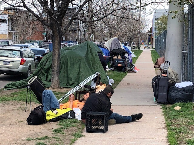 Homeless Tent City at 2400 Lawrence