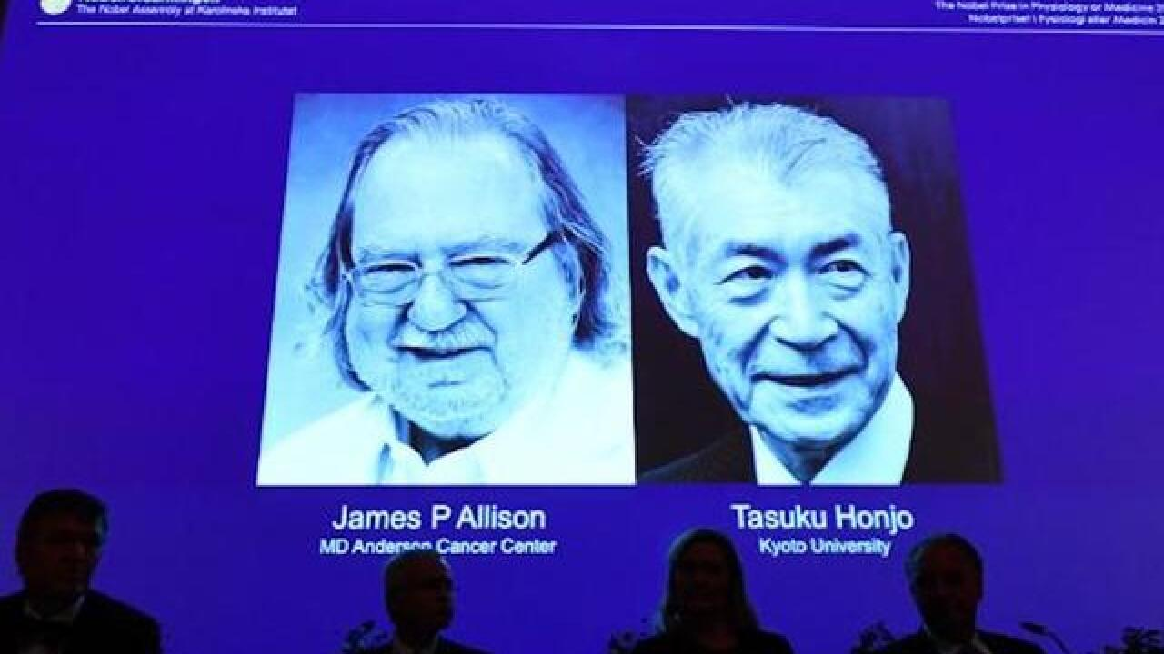 James Allison and Tasuku Honjo win Nobel Prize in Medicine