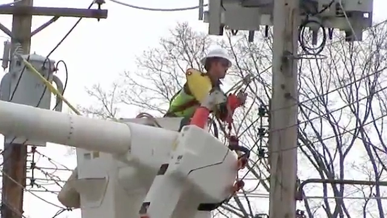 Duke Energy crews work overnight to repair power outages from thunderstorm