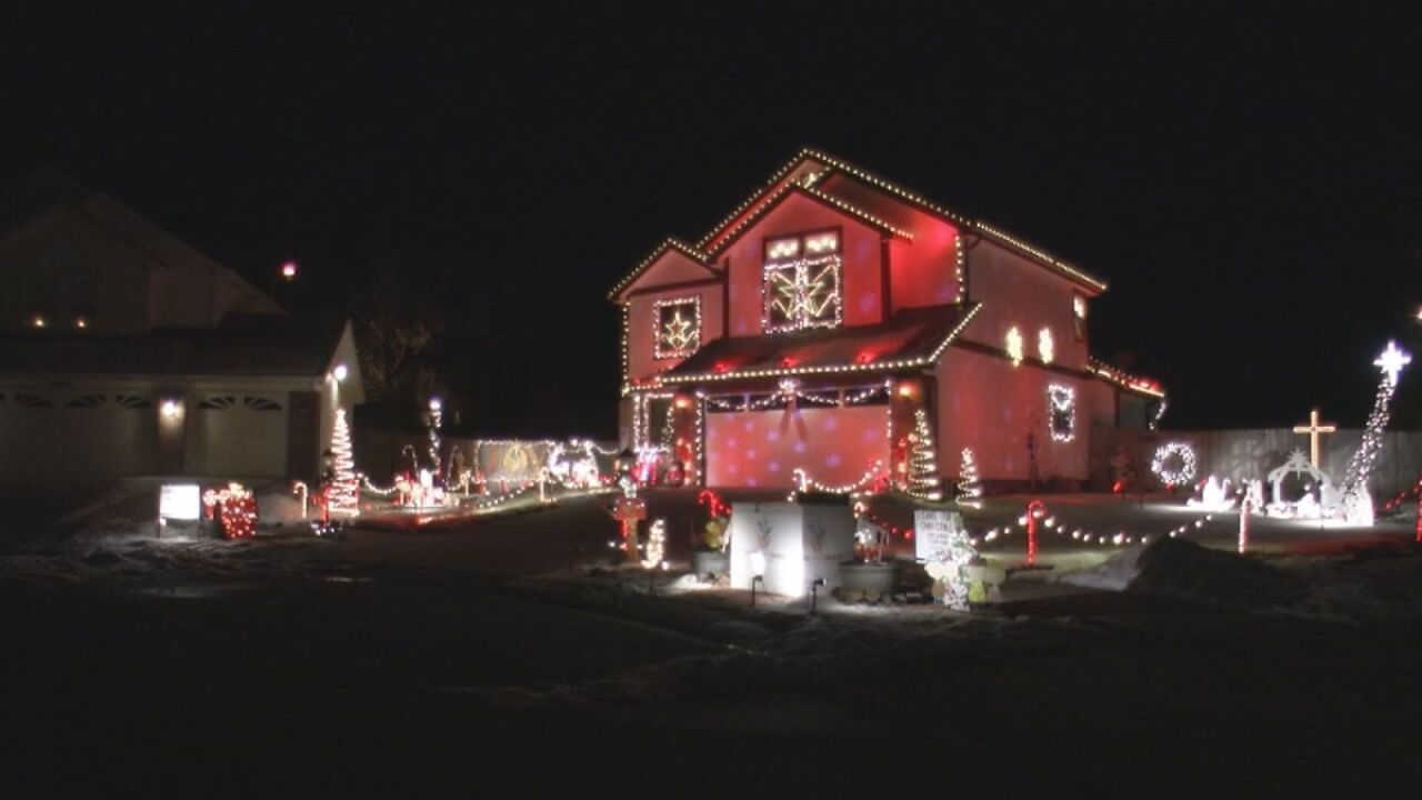 Light display located near Barnes & Peterson in Colorado Springs