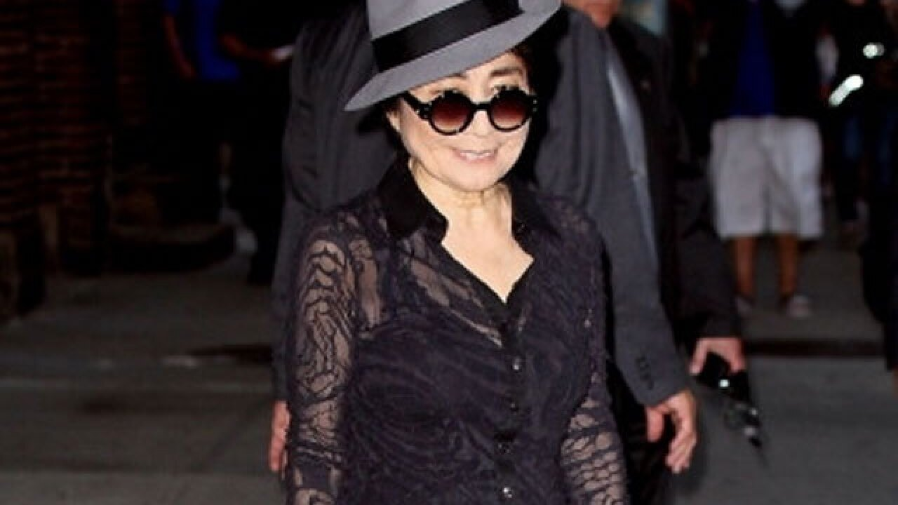 Yoko Ono at hospital with 'serious flu' symptoms