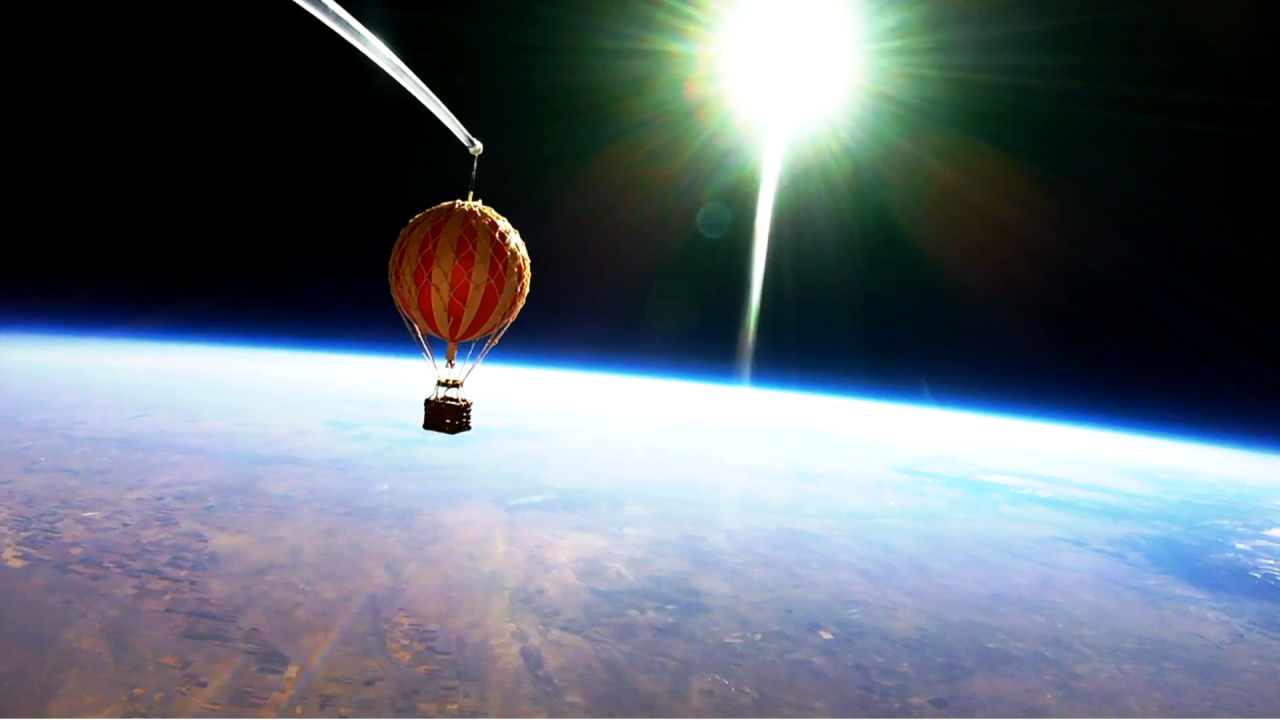 High altitude balloon watch over Colorado