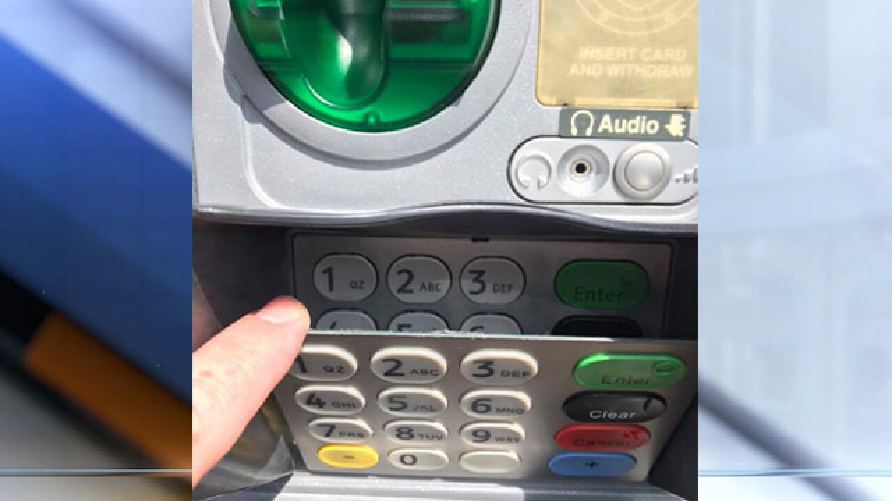Tulsa police investigating case involving fake keypad at ATM