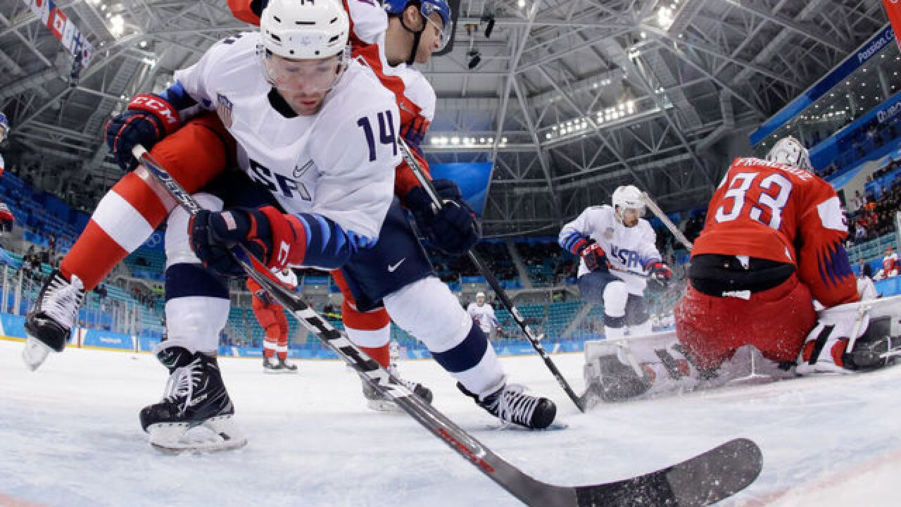 American men's hockey team eliminated by Czech Republic