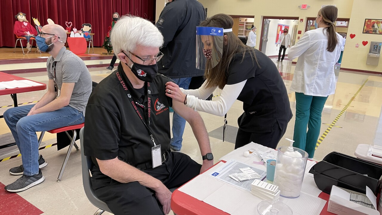 We examined 10 local school districts and how much of their staffs are vaccinated