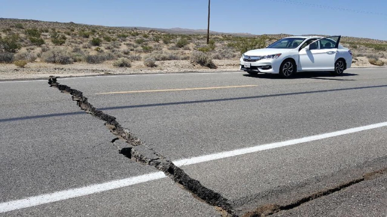California earthquake generates over 100 aftershocks